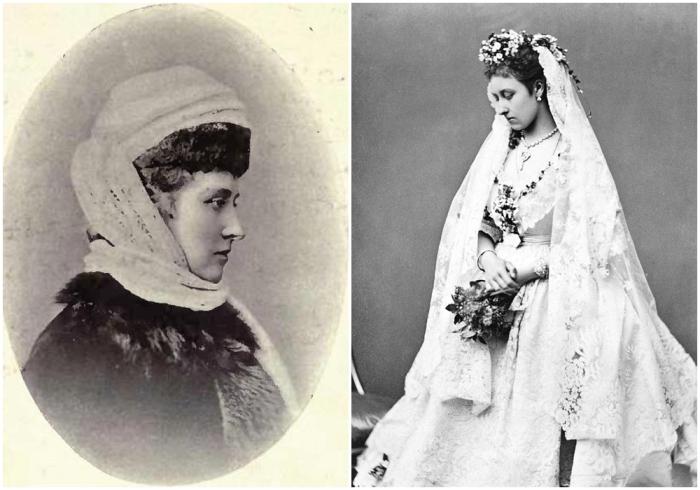 Принцесса Луиза, герцогиня Аргайлская, 1900 год, Уильям Джеймс Топли. \ Справа: Принцесса Луиза в свадебном платье. \ Фото: thereaderwiki.com.