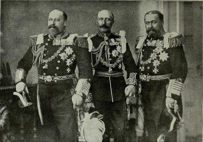 Король Эдуард VII, Принц Артур, герцог Коннотский и Стратхерн, Альфред, герцог Саксен-Кобургский и Готский. \ Фото: google.com.