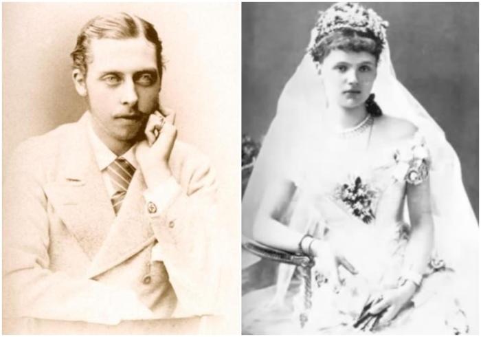 Слева: Леопольд, герцог Олбани. \ Справа:  Елена Вальдек-Пирмонтская. \ Фото: dustyoldthing.com.