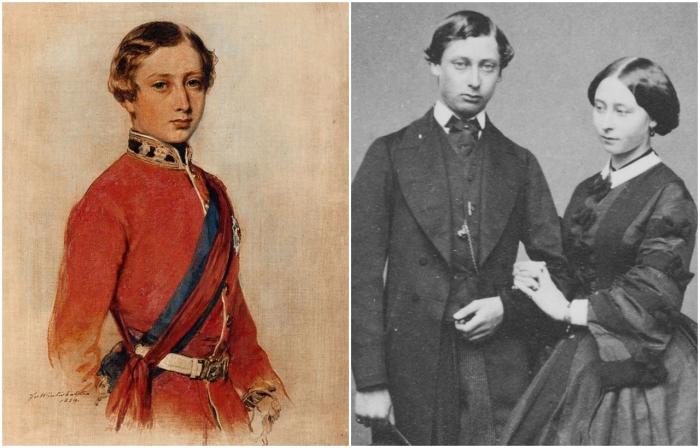 Слева: Берти. \ Справа: Альберт и  Её Королевское высочество принцесса Алиса Мод Мария Великобританская. \ Фото: collections.musee-mccord.qc.ca.