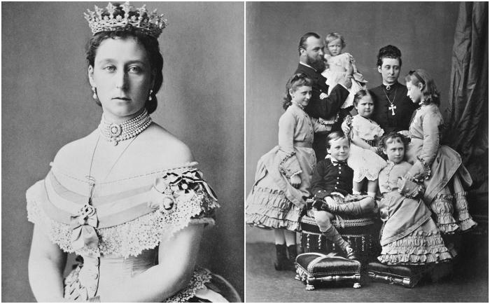 Слева: Алиса, Великая герцогиня  Гессенская. \ Справа: Семейный портрет Гессенского дома:<br>Людвиг, наследный принц Гессен-Дармштадтский, его супруга Алиса, дочь английской королевы Виктории и принца Альберта, и их дети. \ Фото: livejournal.com.