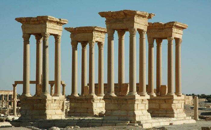 Руины Пальмиры, Сирия, 3-4 век нашей эры. \ Фото: google.com.