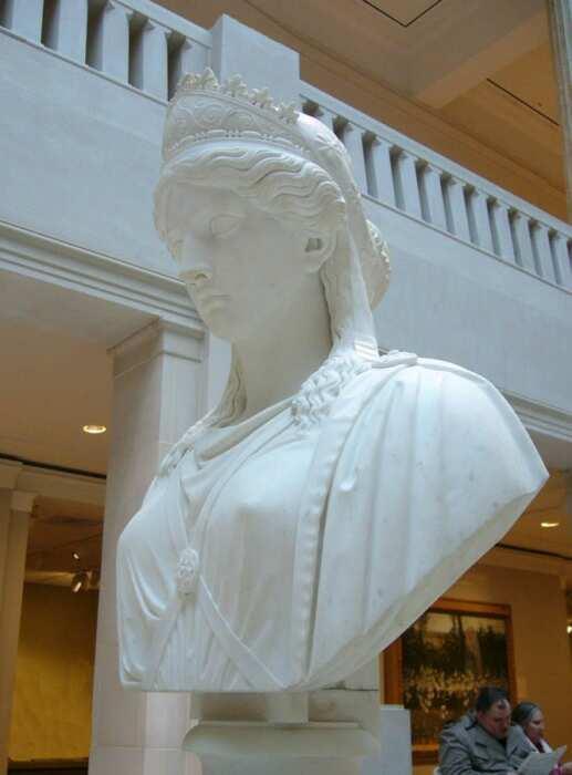 Бюст Зенобии, Харриет Хосмер (1857 год). \ Фото: listal.com.