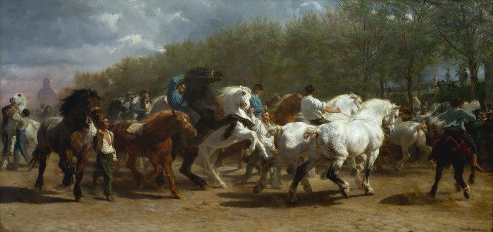 Ярмарка лошадей (1853 год) - Роза Бонёр.