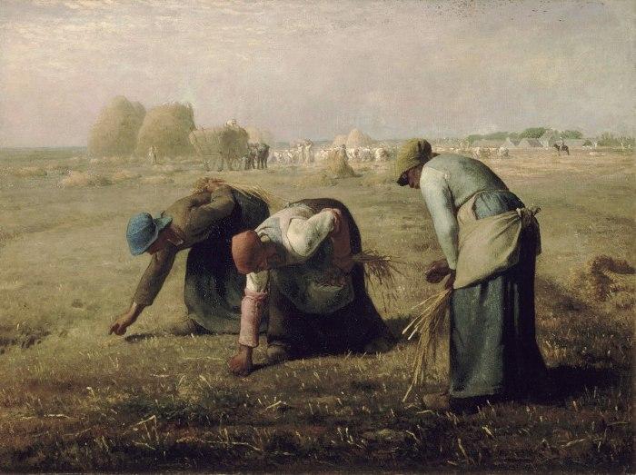 Сборщицы колосьев (1857 год) - Жан-Франсуа Милле.