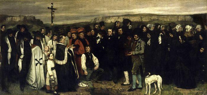 Погребение в Орнане (1850 год) - Гюстав Курбе.