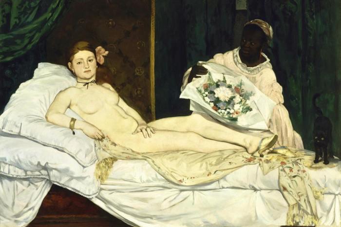Олимпия (1863 год) - Эдуард Мане.