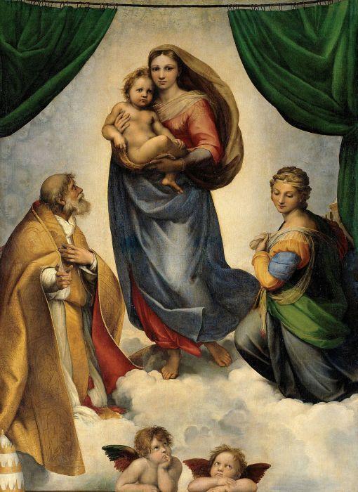Сикстинская Мадонна (1512 г.) - Рафаэль.