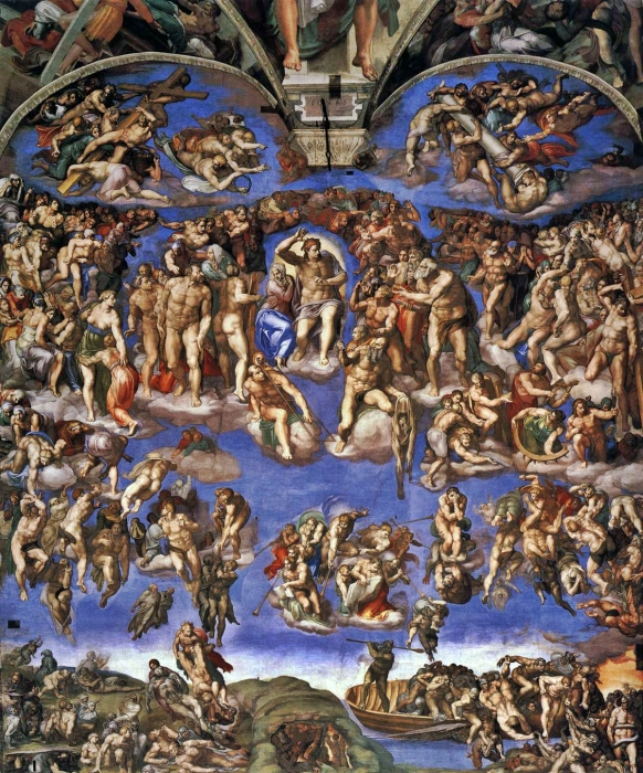 Страшный суд (1541 г.) - Микеланджело Буонарроти.