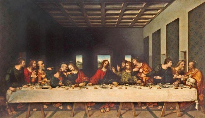 Тайная вечеря (1498 г.) - Леонардо да Винчи.