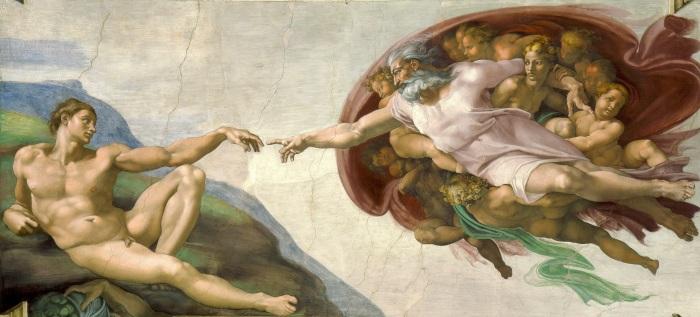 Сотворение Адама (1512 г.) - Микеланджело.