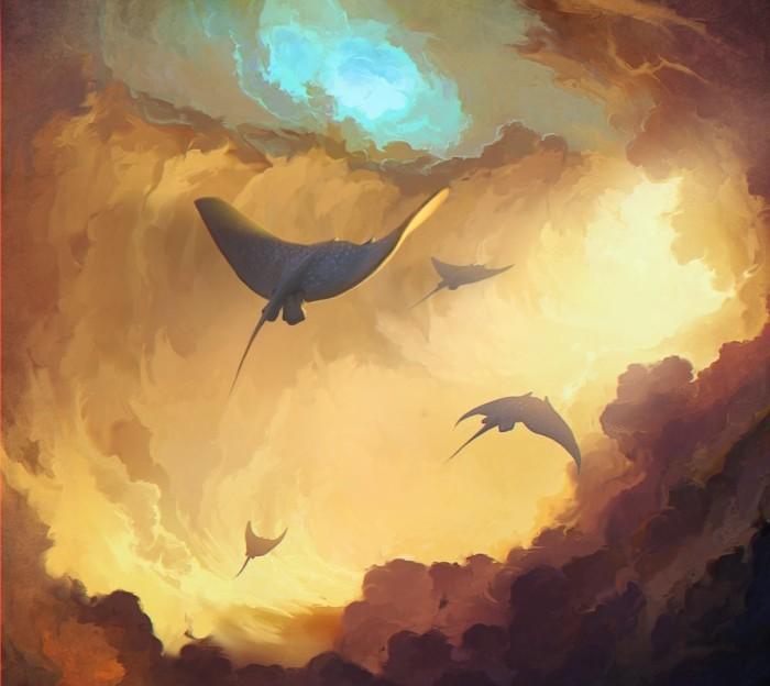 Летающие скаты. Автор: Артём Чебоха.