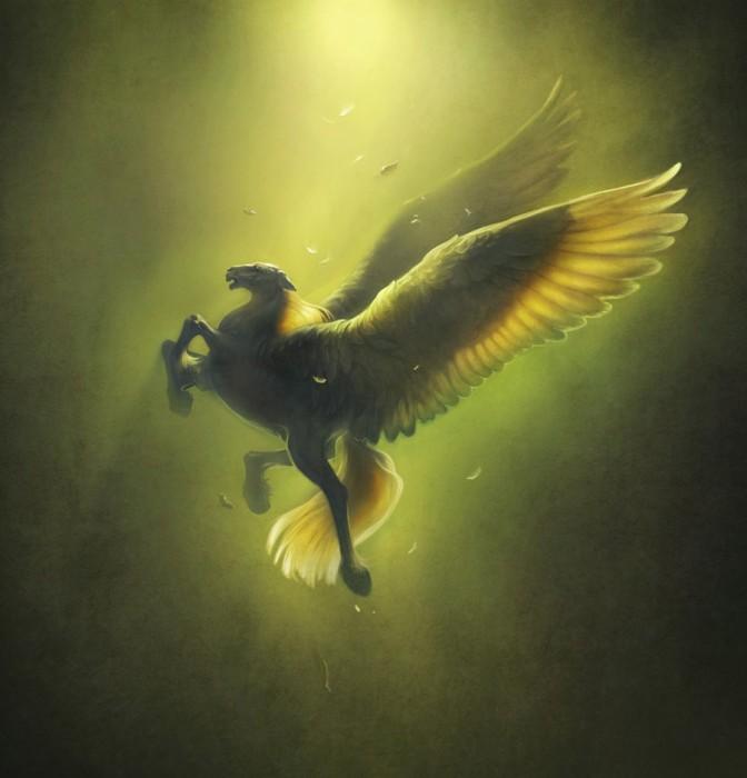 Крылатый конь. Автор: Артём Чебоха.