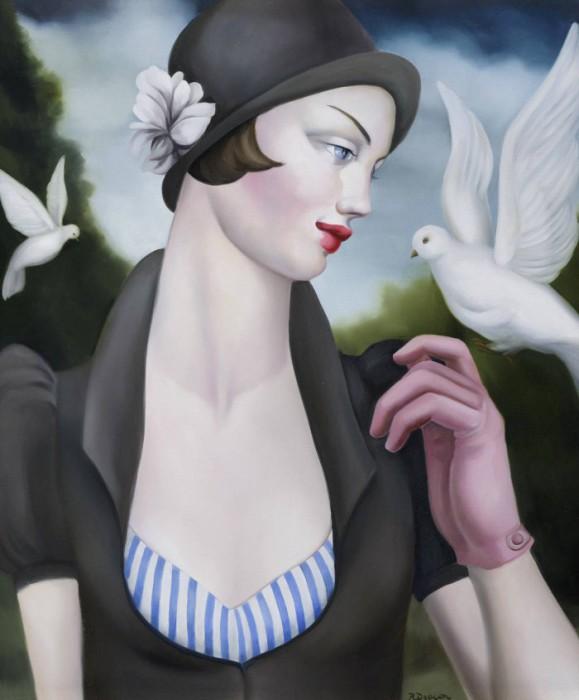 Образы девушек в картинах  Рэйчел Дикон (Rachel Deacon).