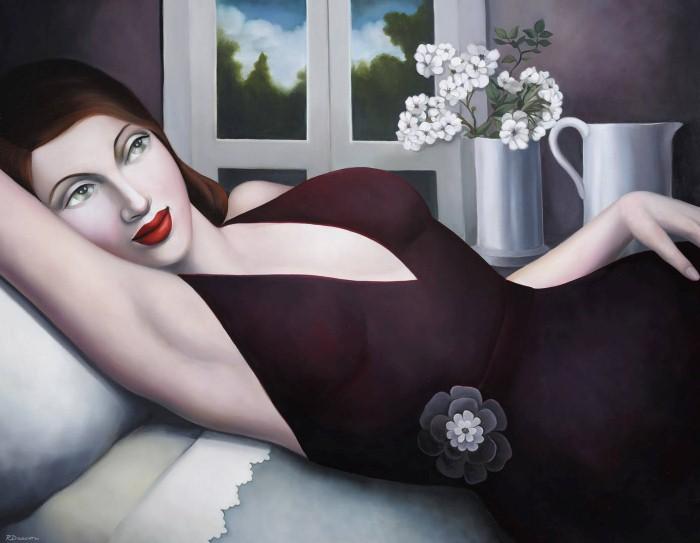 Очаровательная красотка.  Автор картин: Рэйчел Дикон (Rachel Deacon).