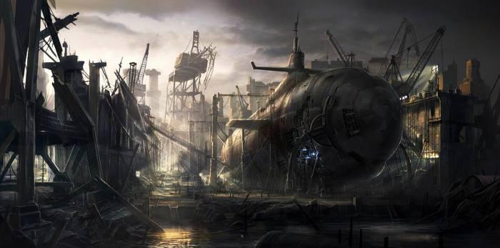 Старая субмарина. Автор: Rado Javor.