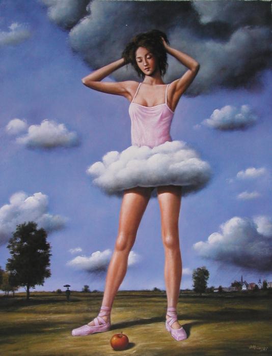 Балерина. Автор: Rafal Olbinski.