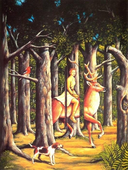 Дивный лес. Автор: Rafal Olbinski.