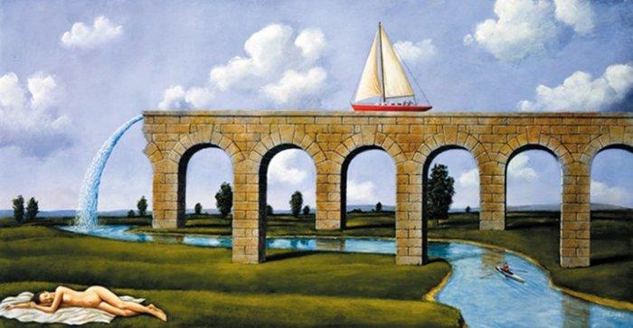 Арочный мост. Автор: Rafal Olbinski.