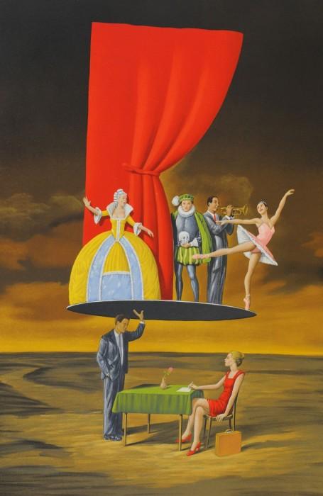 Театр. Автор: Rafal Olbinski.