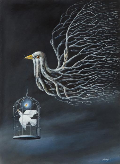 Надежда.  Автор: Rafal Olbinski.