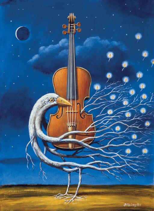 Ноктюрн на скрипке. Автор: Rafal Olbinski.
