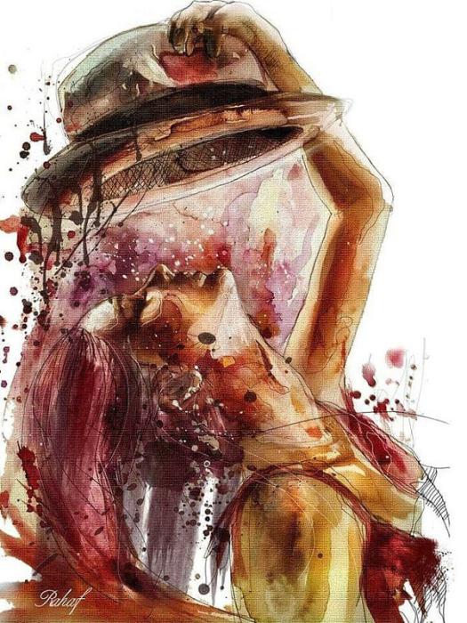 Девушка в шляпе. Автор: Rahaf Dk Albab.