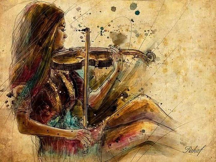 Не тревожь мне душу, скрипка. Автор: Rahaf Dk Albab.