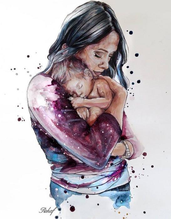 Мама. Автор: Rahaf Dk Albab.