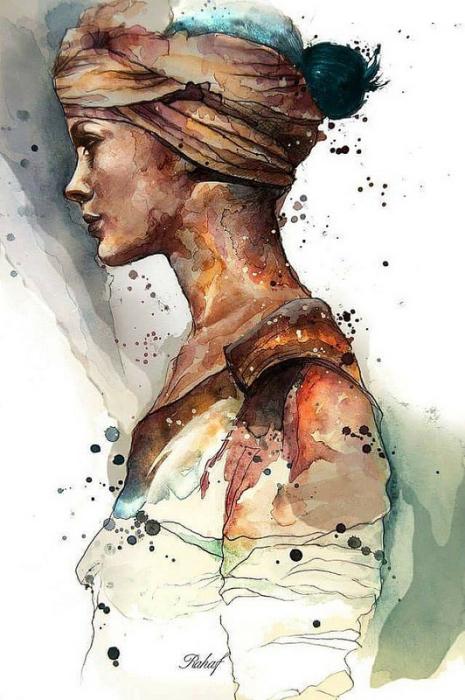 Портрет девушки. Автор: Rahaf Dk Albab.