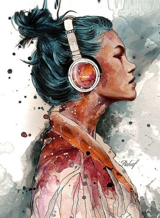 Музыка. Автор: Rahaf Dk Albab.