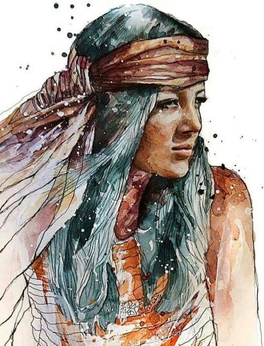 Сирийская женщина. Автор: Rahaf Dk Albab.