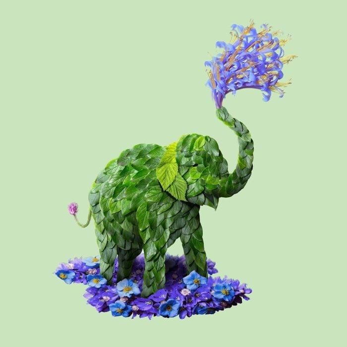 Цветочные скульптуры Raku Inoue.