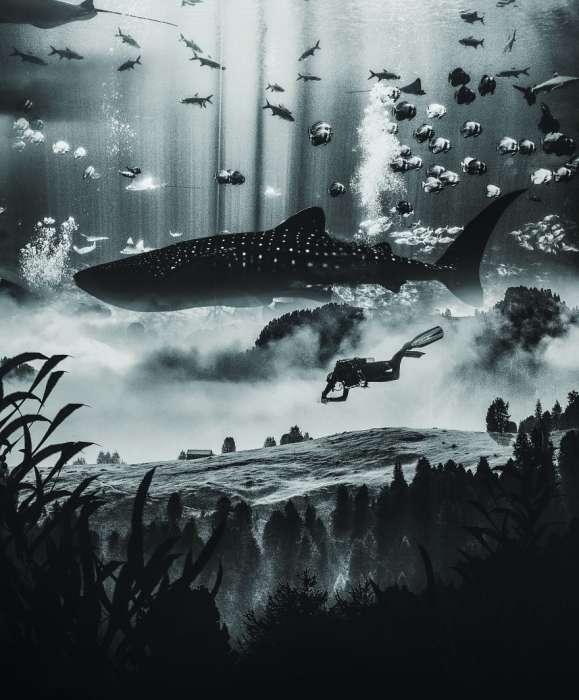 Подводный город. Автор: Rama Krisna Mukthi Adi.
