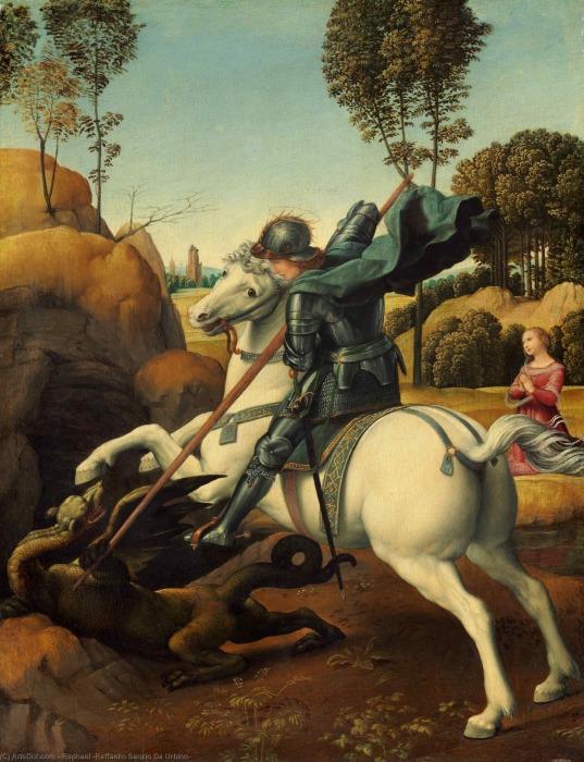 Святой Георгий и дракон. Автор: Рафаэль. \ Фото: arts.in.ua.