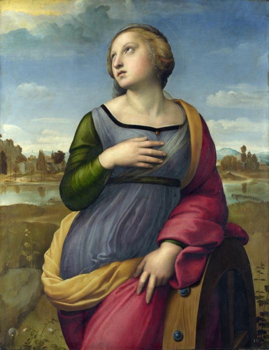 Портрет Святой Екатерины Александрийской. Автор: Рафаэль. \ Фото: steemkr.com.
