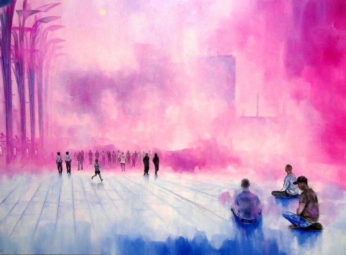 Розовый туман. Автор: Raphael Bouyer.