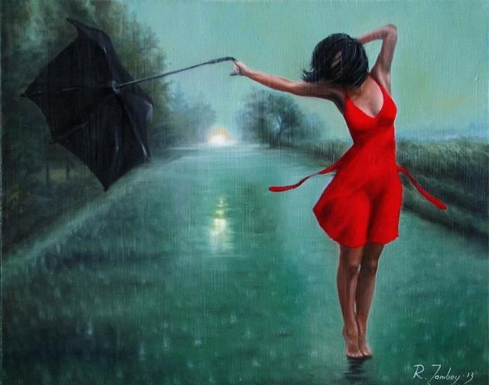 Танцующая под дождём. Автор: Рауф Джанибеков.