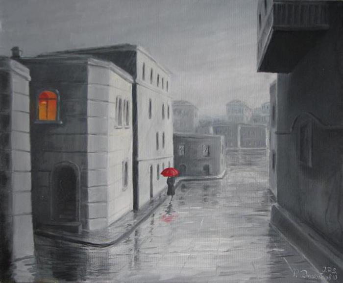Красный зонтик. Автор: Рауф Джанибеков.