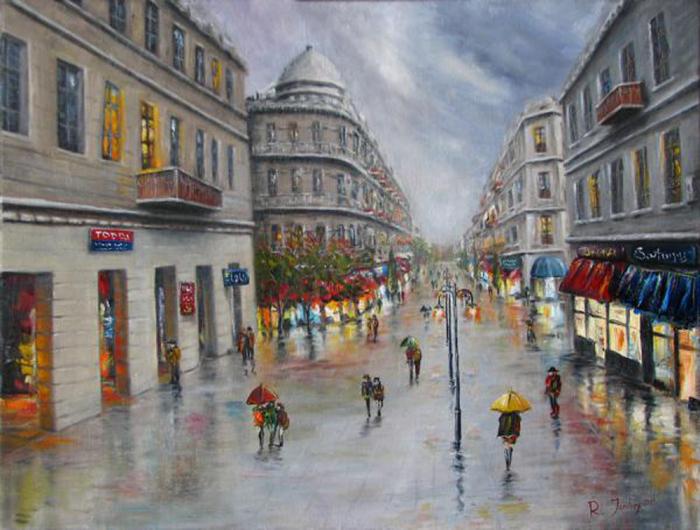 Город во время дождя. Автор: Рауф Джанибеков.