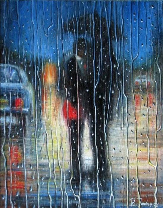 Двое под зонтом. Автор: Рауф Джанибеков.