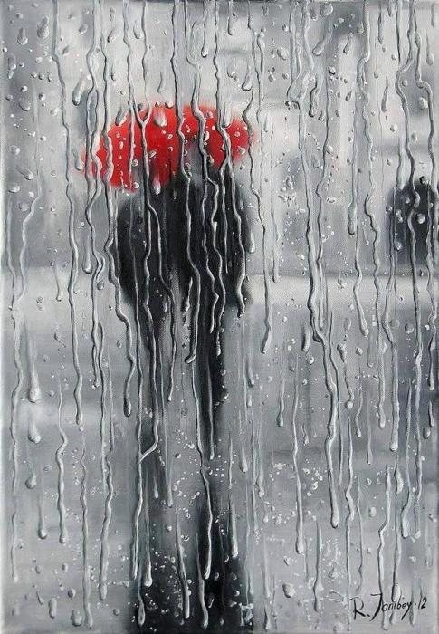 В объятиях дождя. Автор: Рауф Джанибеков.
