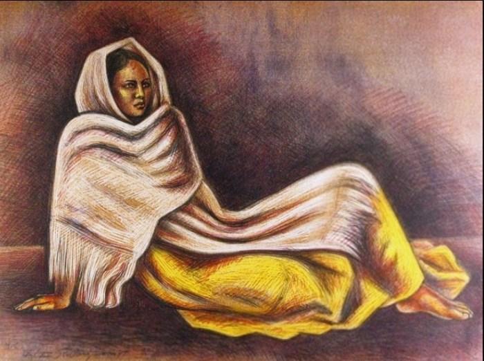Девушка на отдыхе, 1988 год. Автор: Raul Anguiano.