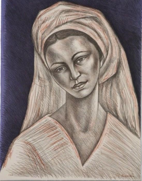 Женщина в белом, 1981 год. Автор: Raul Anguiano.
