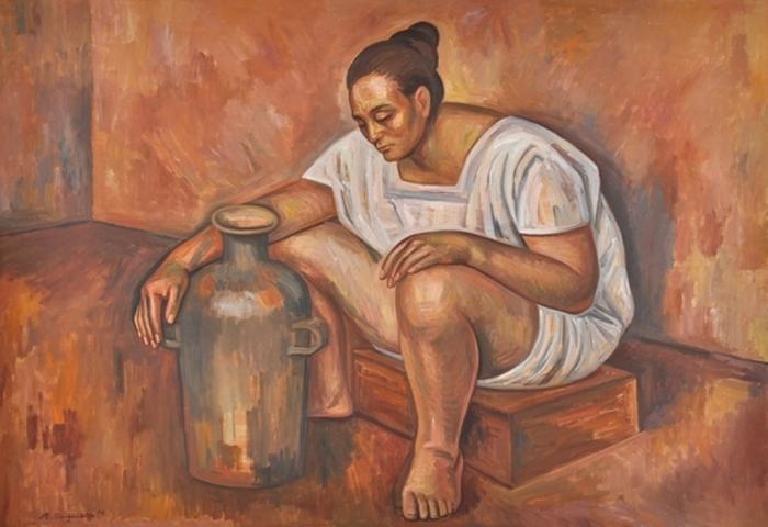 Женщина с кувшином. Автор: Raul Anguiano.