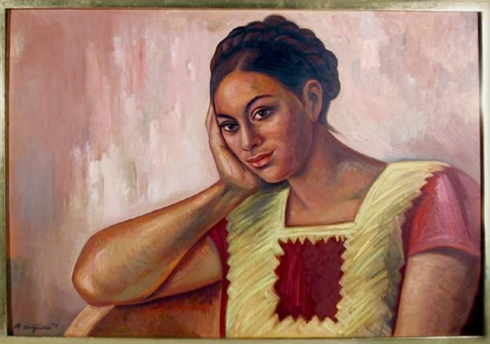 Женщина из Юкатана, 1974 год. Автор: Raul Anguiano.