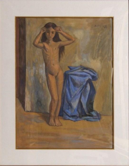 Обнажённая Нина, 1944 год. Автор: Raul Anguiano.