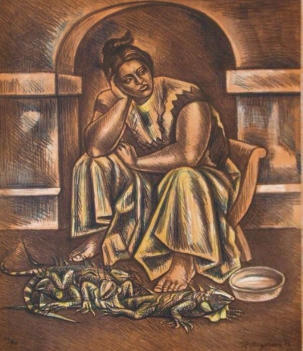 Продавец игуан, 1983 год. Автор: Raul Anguiano.