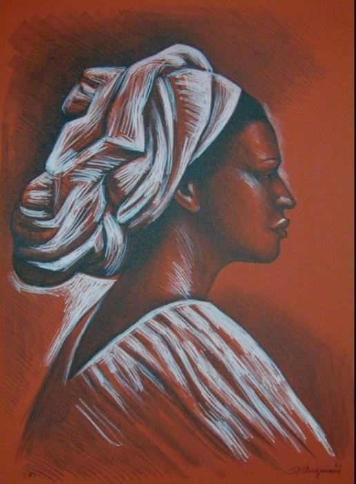 Женщина в тюрбане, 1981 год. Автор: Raul Anguiano.