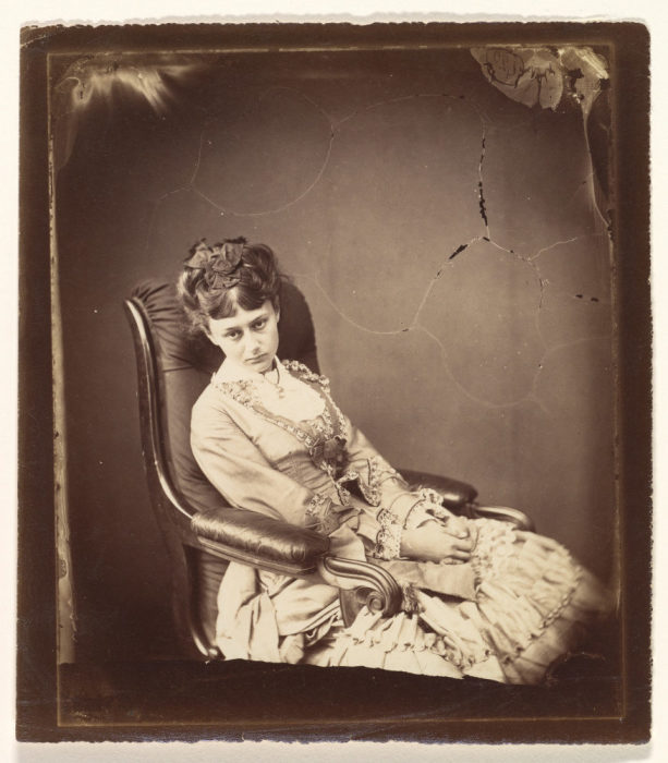 Фото Алисы Лидделл, сделанное Кэроллом 25 июня 1870 года.
